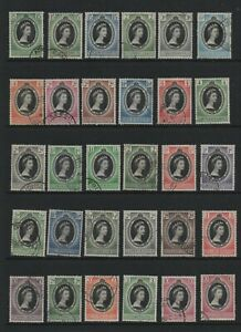 1953 Coronation Omnibus complete commonwealth set 106 fine used stamps superb