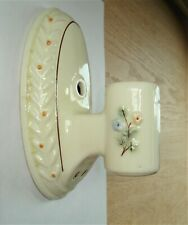 Vintage Art Deco Oval Shape Porcelain Wall Sconce... to Restore