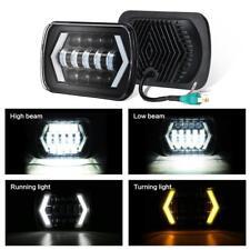 "7x6'' 5X7"" LED Projector Headlight Hi-Lo Beam Halo DRL For Jeep Cherokee XJ"