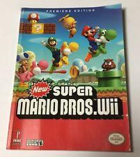 New Super Mario Bros Nintendo Wii 2009 Prima Strategy Guide + Poster RARE