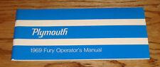 Original 1969 Plymouth Fury Owners Operators Manual 69