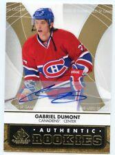 12/13 SP GAME-USED ROOKIE RC AUTOGRAPH AUTO #130 GABRIEL DUMONT CANADIENS *46048