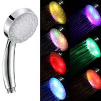Handbrause Druck Wasserspar Duschkopf 4 Led Farbwechselndem Licht Duschbrause