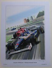 POSTER ARTWORK PRINT / DESSINS F1 WILLIAMS FW19 VILLENEUVE 30 x 40 cm by CLOVIS