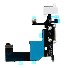 For iPhone 5 Charging Port - Replacement Charger Flex Cable USB Dock Mic  -White