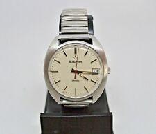 Vintage Eterna Sonic 12j electronic tuning fork watch ESA9162 runs well