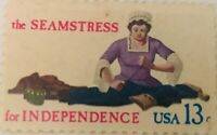 THE SEAMSTRESS FOR INDEPENDENCE STAMP