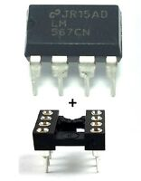 5PCS LM567CN LM567 + Sockets - Tone Decoder DIP-8 - New IC