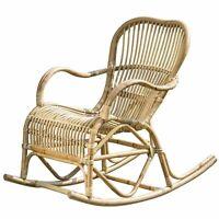 Rocking Chair Rocio Natural Rattan Swing B106cm Armchair Mediterranean Relax