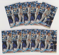 LOT OF 10 - 2018 Topps Update Gleyber Torres Baseball Rookie Cards # US200 NYY