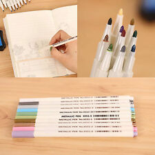 10Pc Metallic Fine Pen Color DIY Album Pencil Marker Dauber Pen Set Waterproof