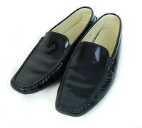 Tod's Black Patent Leather Driving Loafers  US Women's Size 6.5