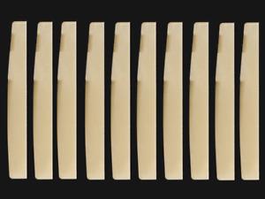 NEW 10pcs Guitar Unbleached BONE Saddle nut bridge 72X3X9mm acoustic Luthier