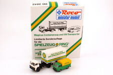 1:87 Toy Ring Set-Packung Magirus M Container Semitrailer + VW T3 - Roco 2842