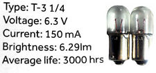Two (2) #47 6.3 Volt Bulbs for Drake R4 R4B R4C Receivers + T4X Transceivers