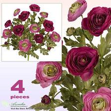 Lot of 48 Ranunculus Flowers Artificial Silk Plant FUTT