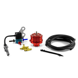 Boomba Racing 15+ Ford Mustang EB Boost Operated BPV Full Recirc. RED ANODIZED