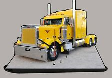 MODEL CARS, TRUCK PETERBILT - 02 with clock 11,8x 7,8 inches