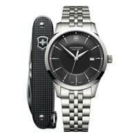 Victorinox Swiss Army 241801.1 Alliance Men's Watch Silver 40mm Black Dial