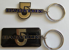 BABYLON 5 :  1 x BABYLON 5 KEYRING MADE IN 1996 (BP) - ONLY BLACK ONE AVAILABLE