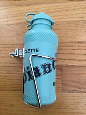 NOS Mini Vintage Bianchi Water Bottle with Cage by Ale of Italy
