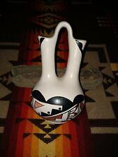 VTG Native American - Jemez Indian - Polychrome Pottery - Wedding Vase - Signed