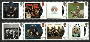 GB 2020 Queen Album Covers SG 4388-95 Full Set of 8 MNH In Strips of 4