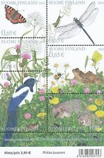 Finland 2003 MNH Sheet - Hedgehog Frog Insects Butterfly - Issued May 7, 2003