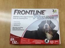 Frontline plus for dogs 89 to 132 lbs  3 doses EPA approved product