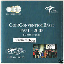 NEDERLAND   CoinConvention Basel    Euro Bu Set    2005