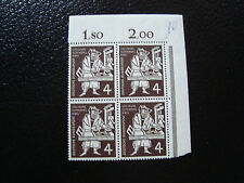 ALLEMAGNE (rfa) - timbre - yvert et tellier n° 74 x4 n** (A5) stamp germany