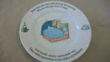 """Peter Rabbit Small Plate 7"""" from Wedgwood China, 1993 Peter Sick In Bed"""