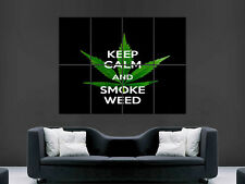 Keep calm smoke weed giant poster print