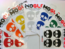 Reflective SKULL stickers x 4  * 7 colours available inc. BLACK reflects White!!