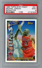 Michael Jordan 1995 Topps Mystery Finest Refractor #M1 Bulls PSA 9 Pop 3
