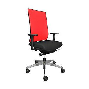 Girsberger Yanos Paul Brooks Rücken Netz rot Sitz Stoff schwarz Bürostuhl