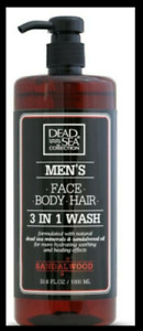 Dead Sea Collection Men`s Face Body Hair Wash Sandalwood LARGE 1000ml