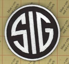SIG SAUER FIREARMS SUBDUED ACU GUN MORALE Iron on PATCH Black QUALITY