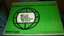 1981 1982 FORD ESCORT AUTOMATIC TRANSAXLE TRANSMISSION SHOP SERVICE MANUAL