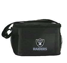 NFL Oakland Raiders Lunch Bag - Insulated Box Tote - 6-Pack Cooler
