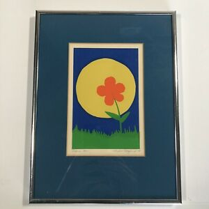 "Andrew Hoglurd Silkscreen On Paper Framed and Signed 12""x9"" Total Size"
