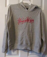 "JR. GIRLS GRAY ""BROOKLYN"" NO BOUNDARIES HOODIE  SIZE L 11-13"