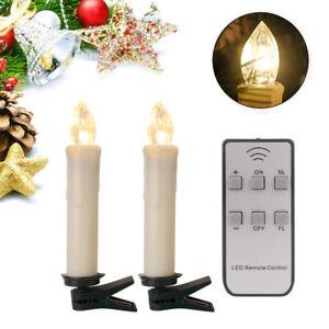 Kabellose LED Weihnachtskerzen Weihnachtsbaum Beleuchtung Kerzen Lichterkette DE