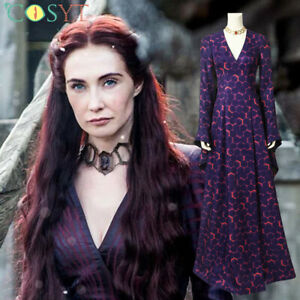Game of Thrones Melisandre Cosplay Halloween Costumes