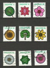 SINGAPORE 1973 FLOWERS DEFINITIVE COMP. SET OF 9 STAMPS SC#189-197 IN FINE USED