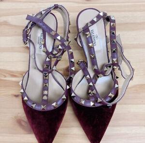 Valentino red wine shoes EU36 90% New