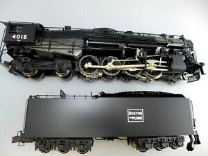 O Scale Sunset Brass 3rd-rail Boston & Maine 2-8-4 #4015 Berkshire Railsounds