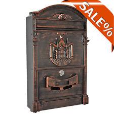 Aufputz Briefkasten Retro Antik Braun Nostalgie Briefkasten, Guß Briefkasten