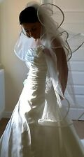 BELLISSIMO Mori Lee CAMPIONE Wedding Dress Size 12 con Belle Detailing