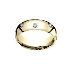 18k Yellow Gold 6mm Comfort Fit 0.32Ct Real Diamond Eternity Band Ring Sz 9-IGI-
